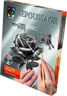"""Създай сам гравюра - Роза и пеперуда - Творчески комплект от серията """"Repoussage"""" - играчка"""