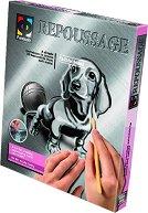 """Създай сам гравюра - Дакел - Творчески комплект от серията """"Repoussage"""" - играчка"""
