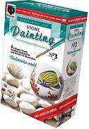 """Рисувай върху камъчета - Подводен свят - Творчески комплект от серията """"Stone Painting"""" - творчески комплект"""