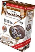 """Рисувай върху камъчета - Кученце - Творчески комплект от серията """"Stone Painting"""" - творчески комплект"""