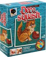 Създай сам картина от пластилин - Игриво коте - творчески комплект
