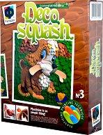 """Създай сам картина от пластилин - Кученце - Творчески комплект от серията """"Deco Squash"""" - творчески комплект"""