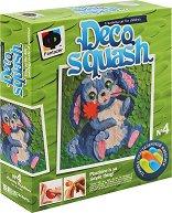 """Създай сам картина от пластилин - Зайче - Творчески комплект от серията """"Deco Squash"""" - творчески комплект"""
