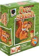 """Създай сам картина от пластилин - Катерица с гъбка - Творчески комплект от серията """"Deco Squash"""" -"""