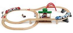 Два влака с релси - Пътешествие - Дървена играчка - играчка