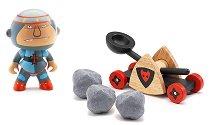 Рицар Балди с каменохвъргачка - Дървени фигури за игра от серия Arty Toys - Рицари -