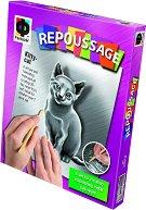 """Създай сам гравюра - Коте - Творчески комплект от серията """"Repoussage"""" - творчески комплект"""