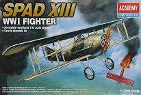 Военен самолет - Spad XIII - Сглобяем авиомодел -
