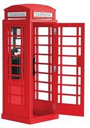 Английска телефонна кабина - Сглобяем модел от дърво -
