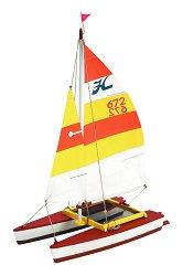 Лодка - Hobie cat - Сглобяем модел от дърво за деца -