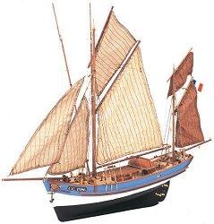 Риболовна лодка - Marie Jeanne - Сглобяем модел от дърво - макет