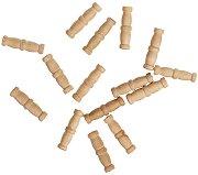 Комплект двойни колони - 15 броя - Резервни части за корабни модели и макети - продукт