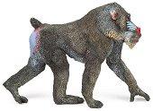 Маймуна - Мандрил - Фигура за игра от серия Диви животни - фигура