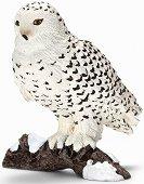 Полярна сова - Фигура от серията - Животни от дивия свят - играчка
