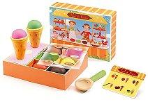 Сладоледи - Комплект дървени фигури - играчка