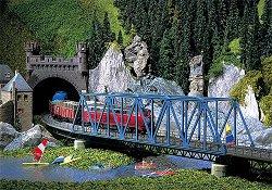 ЖП мост над река - макет