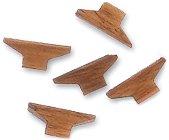 Комплект клинове - 8 броя - Резервни части за корабни модели и макети от орехово дърво - макет