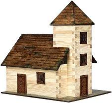 Църква - Сглобяем модел от дърво -