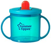 Синя неразливаща се чаша с прибиращ се накрайник - Essential First Cup 190 ml - продукт