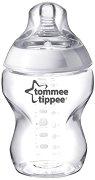 Бебешко шише за хранене - Closer to Nature: Easi Vent 260 ml - Комплект със силиконов биберон за новородени - шише