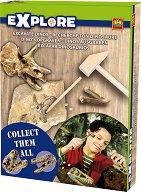 """Открий части от динозавърски скелет - Образователен комплект от серията """"Откривател"""" - образователен комплект"""