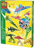 Създай сам оригами-самолети - Творчески комплект - хартиен модел
