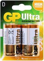 Батерия D - Ултра алкална (LR20) - 2 броя - батерия