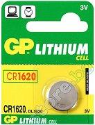 Бутонна батерия CR1620 / DL1620 - Литиева 3V - 1 брой - батерия