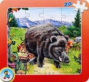 Колекция диви животни: Глиган - Пъзел в картонена подложка - Златното пате -