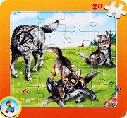 Колекция диви животни: Вълк - Пъзел в картонена подложка - Златното пате - пъзел