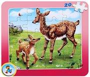 Колекция диви животни: Сърна - Пъзел в картонена подложка - Златното пате - пъзел