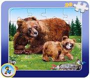 Колекция диви животни: Мечка - Пъзел в картонена подложка - Златното пате - пъзел