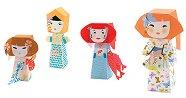 Сгъни сам картонени фигури - Кукли - Творчески комплект с оригами - кукла