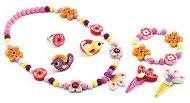 Детски бижута - Wood flower - Комплект с дървени мъниста - играчка