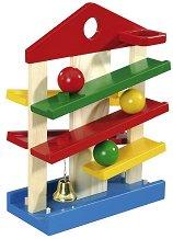 Къща с топчета - Дървена играчка - творчески комплект