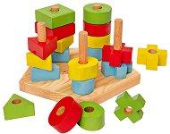 Нанижи и подреди - Дървена играчка - играчка