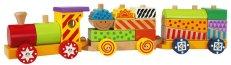 Цветно влакче - Дървена играчка - играчка