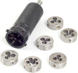 Комплект от плашки с държач за мини струг PD 230/E -