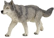 Сив вълк - Фигура от серията Животните в гората - кукла