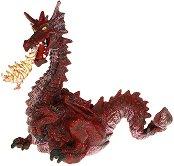 Червен дракон с пламък - фигура