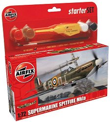 Военен самолет - Supermarine Spitfire Mk.Ia - Сглобяем модел - стартов комплект -