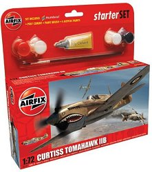 Изтребител-бомбардировач - Curtiss Tomahawk IIB - Сглобяем модел - стартов комплект -