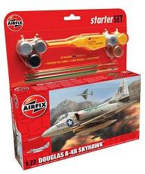 Изтребител - Douglas A4-B Skyhawk - Сглобяем авиомодел - стартов комплект -