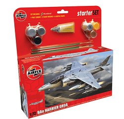 Изтребител - BAe Harrier GR9 - Сглобяем модел - голям стартов комплект - макет