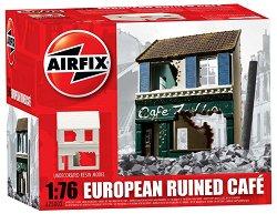 Руини на сграда - European Ruined Café - Модел за оцветяване - макет