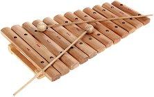 Дървен ксилофон с 12 ноти - играчка