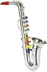 Саксофон с 8 клавиша - Детски музикален инструмент - играчка