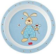 Детска меламинова чиния - Зайчето Semmel Bunny - творчески комплект