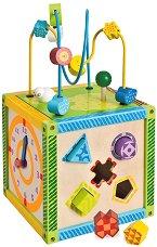 Детски образователен куб - Дървена играчка -