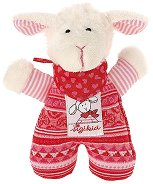 Мека дрънкалка - Овчицата Шнуги - Плюшена играчка за бебе -
